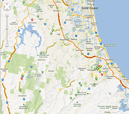 koalamap of gold coast koala sightings in the wild