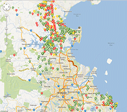 KoalaTracker national crowdsourced koala map. Log in to view map or report a sighting.